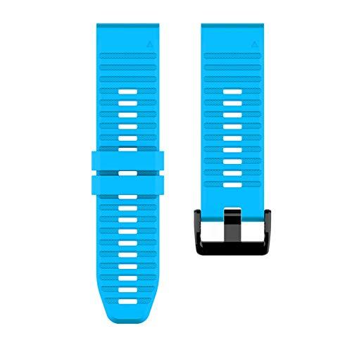 Soapow Correa de reloj de 22 mm de liberación rápida para Garmin Fenix 6 accesorios de eplacement Correa de reloj de silicona Accesorios de repuesto Excelente comodidad de uso (multicolor),