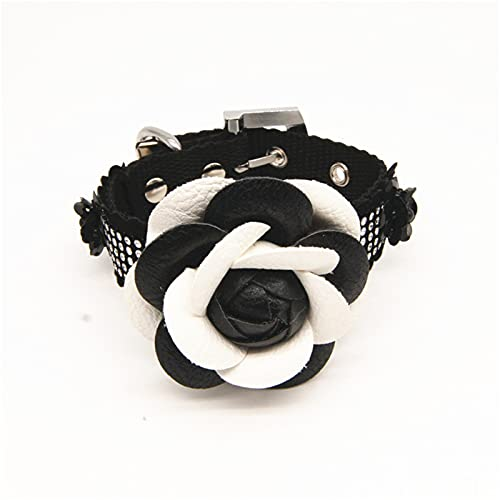 ZZCR Collar De Perro Mascota Collar De Perro Pequeño Y Mediano Collar De Hebilla Collar Ajustable Collar Ajustable De Varios Tamaños Negro S