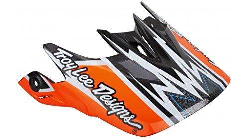 Troy Lee Designs D3Visier, Unisex, Orange, Nicht zutreffend
