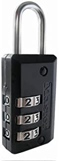 Master Lock 646D Luggage Lock, Set Your Own Combination, Black Finish, 5-Pack