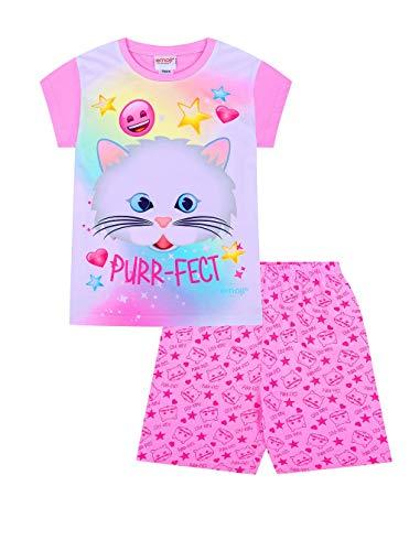 Mädchen Emoji Purr-Effekt-Schlafanzug für den Sommer, kurz. Gr. 7-8 Jahre, rose
