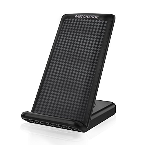 GUISOU TECH GSCW001 Guisou 10W Fast Wireless Charger Charging Pad Stand for Galaxy S9/Plus Note 8/5 S8/PlusS7/S7Edge/S6 Edge Plus/iPhone X/8/8Plus Charger Stand Black