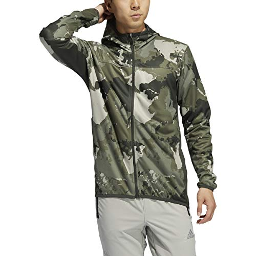 adidas Men's Continent Camo City Hoodie, Feather Grey, M