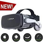 [New Version ]VR Headset,Virtual Reality Headset,VR SHINECON VR Goggles for Movies, Video,Games - 3D VR Glasses for Iphone, Android and Other Phones Within 4.7-6.0 inch