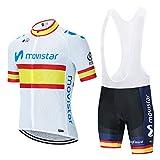 Maillots Ciclismo Hombre Conjunto de Ropa Verano,Bicicleta Manga Corta +Pantalones Cortos
