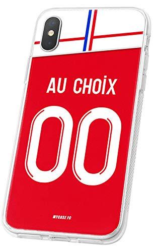 MYCASEFC - Cover Calcio Personalizzabile Reims Huawei P9 Lite, in Silicone, Custodia di Calcio per Smartphone Personalizzata e Realizzata in Francia in TPU