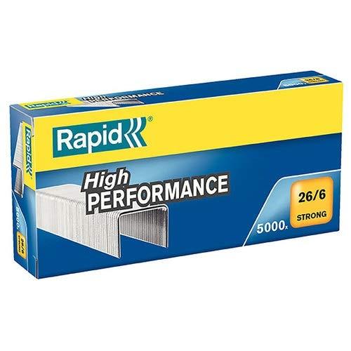 Rapid 24862000 Grapas Standard 5000 unidades, 26/6 mm, 30 hojas