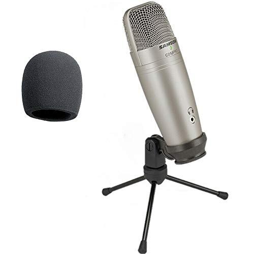 Usb Studio Condenser Microfoon Met Real-Time Monitoring Grote Diafragma Condenser Microfoon Voor Omroep 1