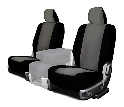 CarsCover Custom Fit 2015-2018 Ford F150 F250 F350 Pickup Truck Neoprene Car Front Seat Covers Gray & Black Sides Driver & Passenger Cover