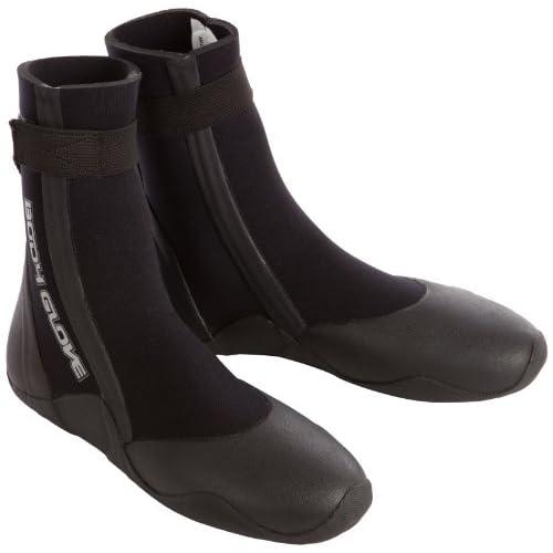 Body Glove - Calzari con punta arrotondata, 5 mm, nero (nero), Taglia 10 UK, 43 EU, 11 US