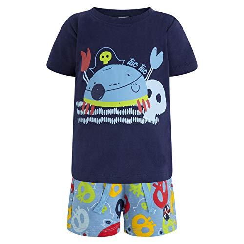 Tuc Tuc Camiseta+Bermuda Estampada Punto NIÑO Pirates Conjunto de Ropa, (Azul 16), 92/98 (Tamaño del Fabricante:3A) para Niños