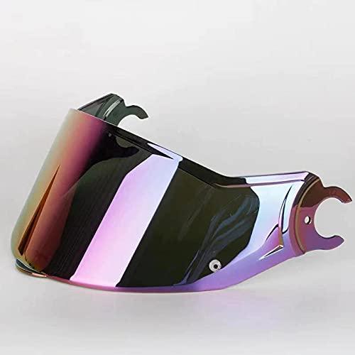 Visiera del casco Schermo arcobaleno argento del fumo scuro squisito solo for LS2 Vortex. Lenti for caschi adatti LS2 FF313. (Colore : Argento)