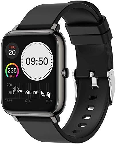 XXCLZ Donne Uomini Impermeabile Intelligente Orologio da Polso Smartwatch sedentario Promemoria,Black