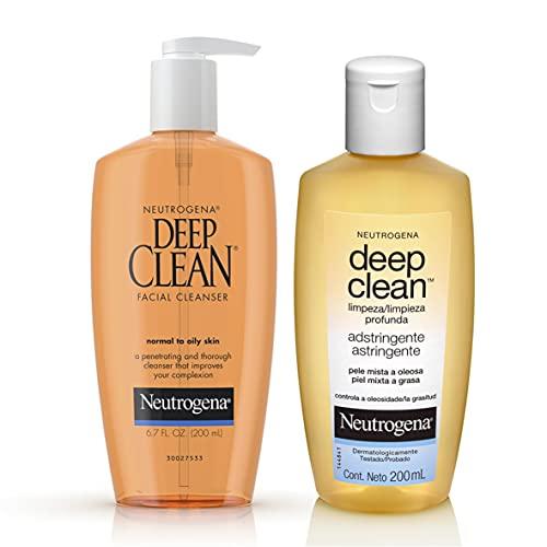 Paquete de Limpiador y Astringente facial Deep Clean de 200ml para tu rutina diaria de limpieza profund