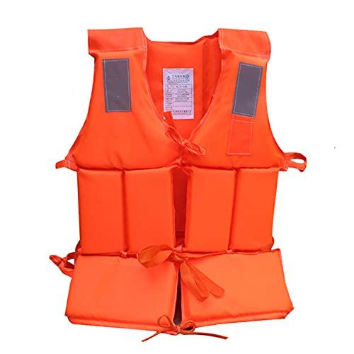 Chaleco Salvavidas de NatacióN Chaqueta Life Jacket para Adulto con Reflector Tela Oxford y Relleno de Espuma FijacióN de Correa para Playa,