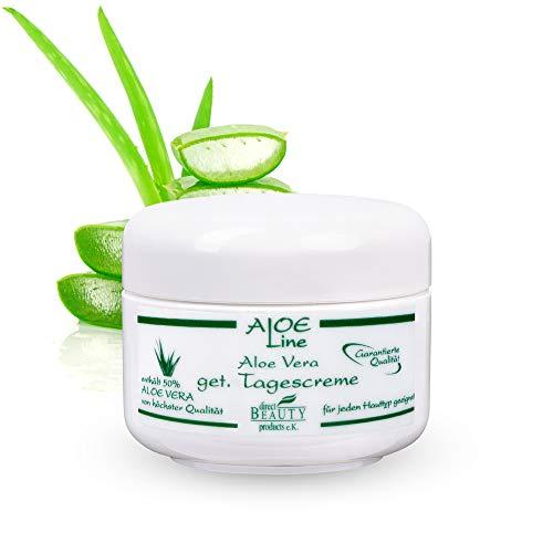 ALOE Line - Aloe Vera getönte Tagescreme - gibt der Haut einen sympathischen Teint - enthält 50%...