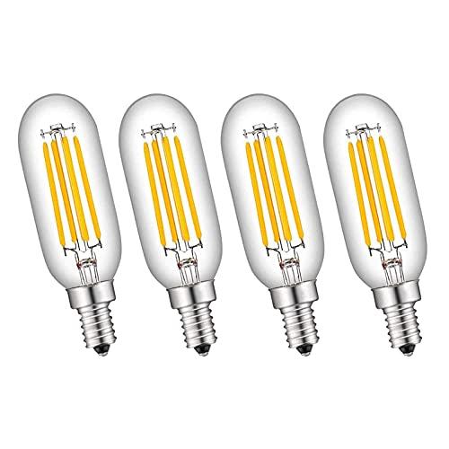YQGOO Bombillas LED para candelabro T25 no Regulables 4 W E14 Bombilla de filamento Retro Edison 400 LM, Equivalente a 40 W incandescente, luz Blanca cálida de 2700 k, Paquete de 4 (110 V / 220 V)