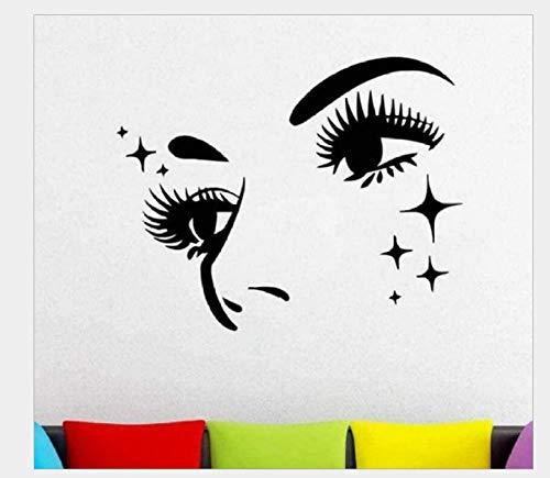Wandaufkleber Kinderzimmer Beauty Eyes Generation Geschnitzt Europäische Und Amerikanische Dekorative Persönlichkeit Wandaufkleber Wohnzimmer Schlafzimmer Sofa Studie Schönheitssalon Hintergrund Wand