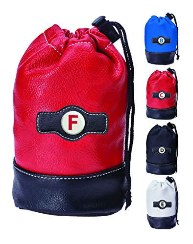 Clip Wipes Red Letter F - Personalized Logo Drawstring Valuables Golf Pouch
