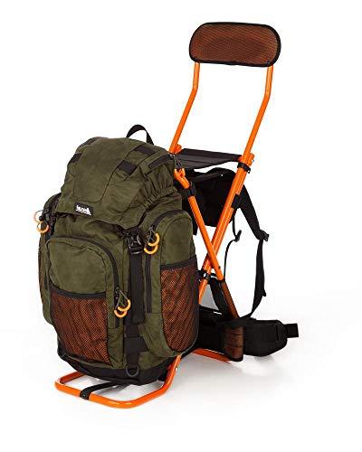 FAUNA Drückjagd-Rucksack Sitzrucksack BJÖRNEN EVO mit Rückenlehne orange