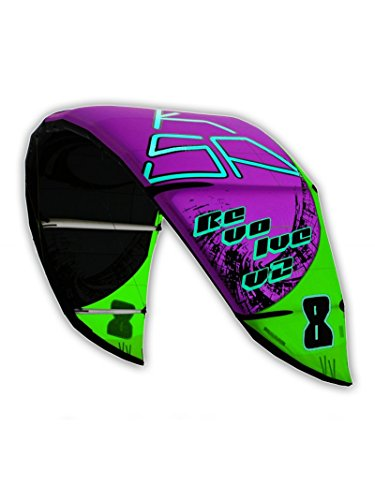 Kite - KSP Revolve V22014 - Aile de kitesurf,6-8-10-12-14 m, avec sac et pompe, 6m