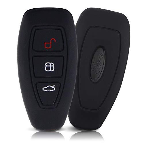 ASARAH Cover chiavi auto PREMIUM in silicone compatibile con Ford, Copertura protettiva per chiavi dell'auto, Copertina per tipo di chiave 3BKL - Nero