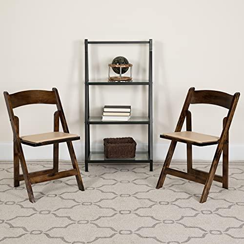 Flash Furniture Hercules Series - Silla Plegable de Madera de Frutas con Asiento Acolchado de Vinilo