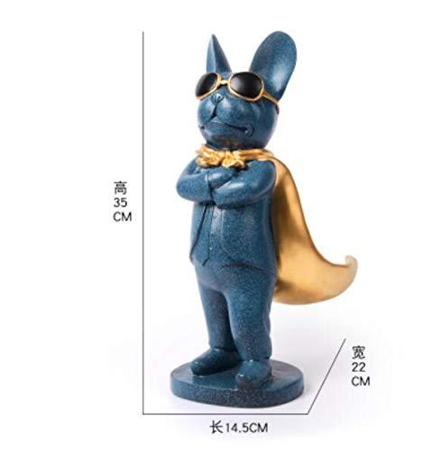 DAJIADS beeldje beeldjes beeldjes beeldjes beeldje sculpturen Boeddha, klassieke super mantel hond hars huis decoratieve beeldhouwkunst grappige zonnebril hond winkel bar decor A