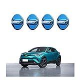 CDEFG [4 PCS] CHR C-HR 2016-2020 Acero Inoxidable Auto Türschloss Cobertura Door Lock Cover Accesorios Türverriegelung Cobertura (Azul)