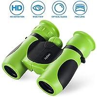 Jaybest Binoculares para Niños, Mini binoculares compactos para Niños, con Observación de Aves, astronomía, Caza, Senderismo .(Green)