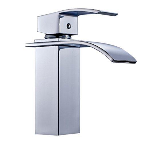 Grifo para lavabo grifo cascada Monomando para baño lavabo acero inoxidable