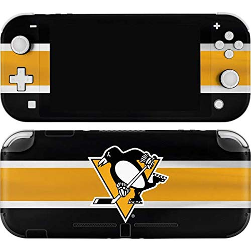 Skinit Decal Gaming Skin Compatible with Nintendo Switch Lite - Officially Licensed NHL Pittsburgh Penguins Jersey Design