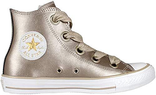 Converse Damen Chuck Taylor CTAS Big Eyelets Hi Sneakers, Mehrfarbig (Metallic Gold/Gold/White 710), 39.5 EU