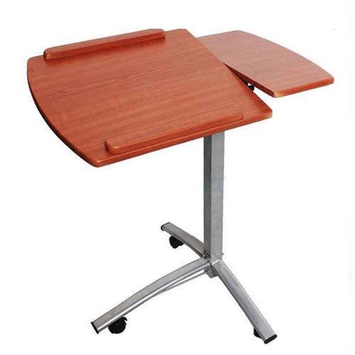 Desks & Home Office Furniture Wood, Steel, Angle & Height Adjustable Rolling Laptop Desk Cart Over Bed Hospital Table Stand