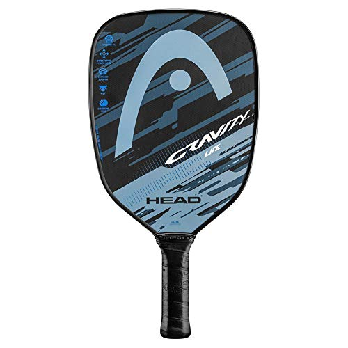 HEAD Gravity Lite Pickleball Paddle - Massive Sweetspot, Extreme Spin, Flip Cosmetic (Blue/Grey)