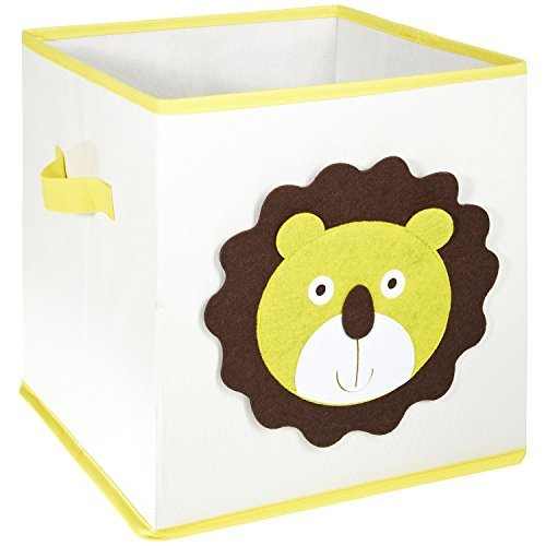 LOMOS caja para juguetes con diferentes motivos de animales y mucho espacio para almacenar (30x 30x 30cm)