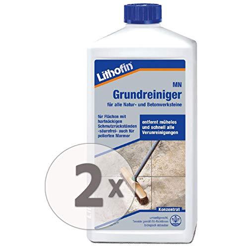 Lithofin MN Grundreiniger 2 l - Zum Grundreinigen gebrauchter Böden - von poliertem Marmor und Kalkstein