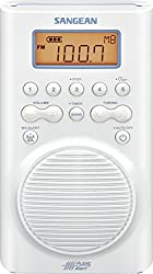 cheap Sangean H205 AM / FM Waterproof shower radio with weather warning