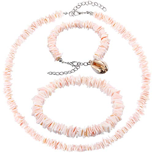 Pink Puka Shell Necklace