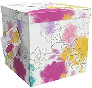 EndlessArtUS Gift Box 9x9x9 Carmen Pop up in Seconds Comes with Decorative Ribbon Mounted on The lid A Gift Tag and Tissue...