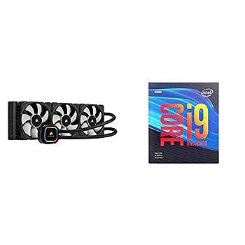 Corsair iCUE H150i RGB Pro XT 360mm Radiator Triple 120mm PWM Fans Advanced RGB Lighting and Fan Control with Intel BX80684I99900KF Intel Core i9-9900KF Desktop Processor 8 Cores