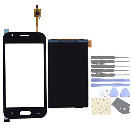 VEKIR Lente de Cristal táctil de Pantalla + Pantalla LCD de reemplazo para Samsung Galaxy J1 Mini Prime J106F J106B J106H(Black)