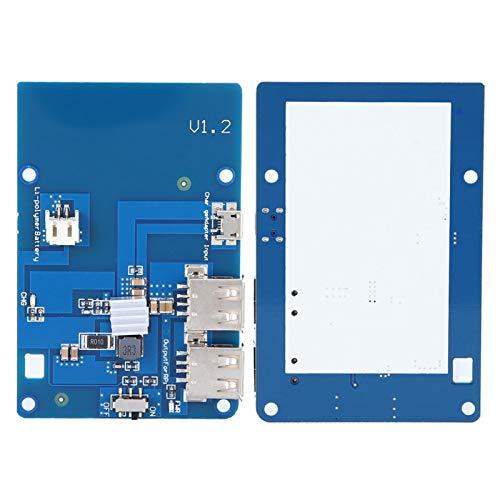 KUIDAMOS Placa Protectora de batería de Durabilidad antiinterferencias Placa de expansión de batería UPS Fuente de alimentación de Campo Independiente para Placa Base Raspberry Pi