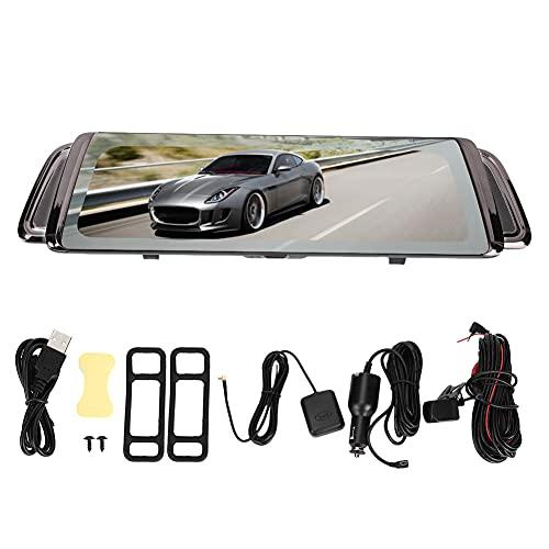 Mirror Dash Cam para automóviles con pantalla táctil completa Grabadora de conducción de automóviles Cámara para tablero de instrumentos Visión nocturna 1080P Cámara frontal y trasera de doble tablero