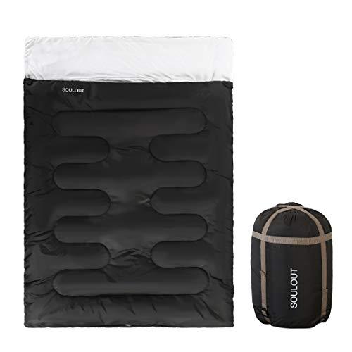 SOULOUT Double Sleeping Bag, 3-4 Season Warm Cold Weather, Waterproof...