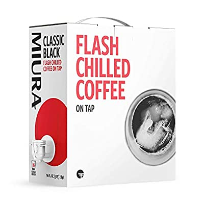 MIURA Classic Black   Flash Chilled Cold Brew   Japanese Style Iced Chilled Coffee   Shelf Stable and Ready to Drink   96 FL OZ (3 QT) 2.84 L   16 Servings