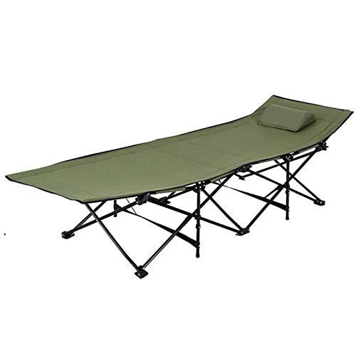 JNWEIYU Folding Aluminiumrahmen, leicht & tragbar mit Tragetasche for Camping/Home Use, 187 cm X 67 cm X 47,5 cm, Gefaltete Größe: 29 cm X 103 cm (Color : Green)