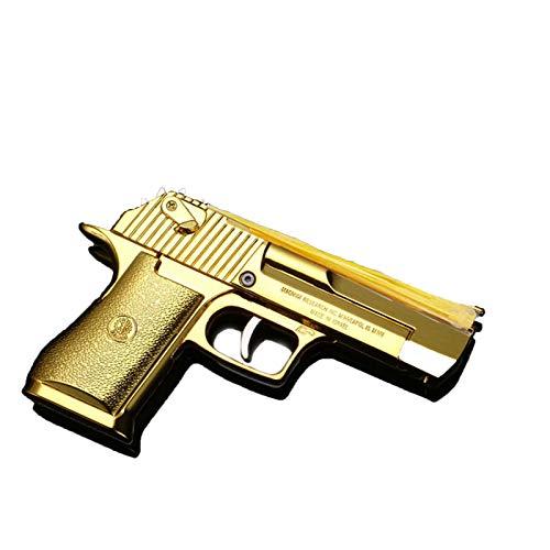 Modelo de aleación Plegable Pistolas Goma Gun Desert Eagle Toys (Dorado)
