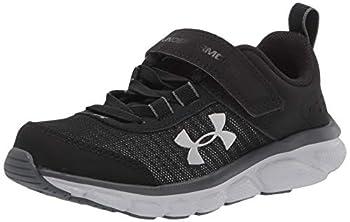 Under Armour Unisex-Youth Pre School Assert 8 Alternate Closure Sneaker Black  001 /Pitch Gray 1