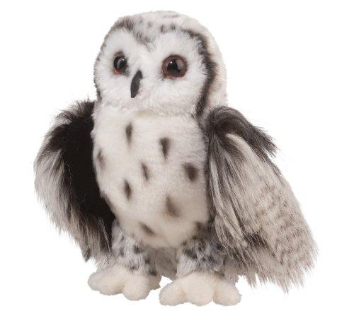 Douglas Crescent Silver Owl Plush Stuffed Animal